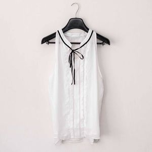 • New York & Co. • White Dress Blouse w/ Ties •